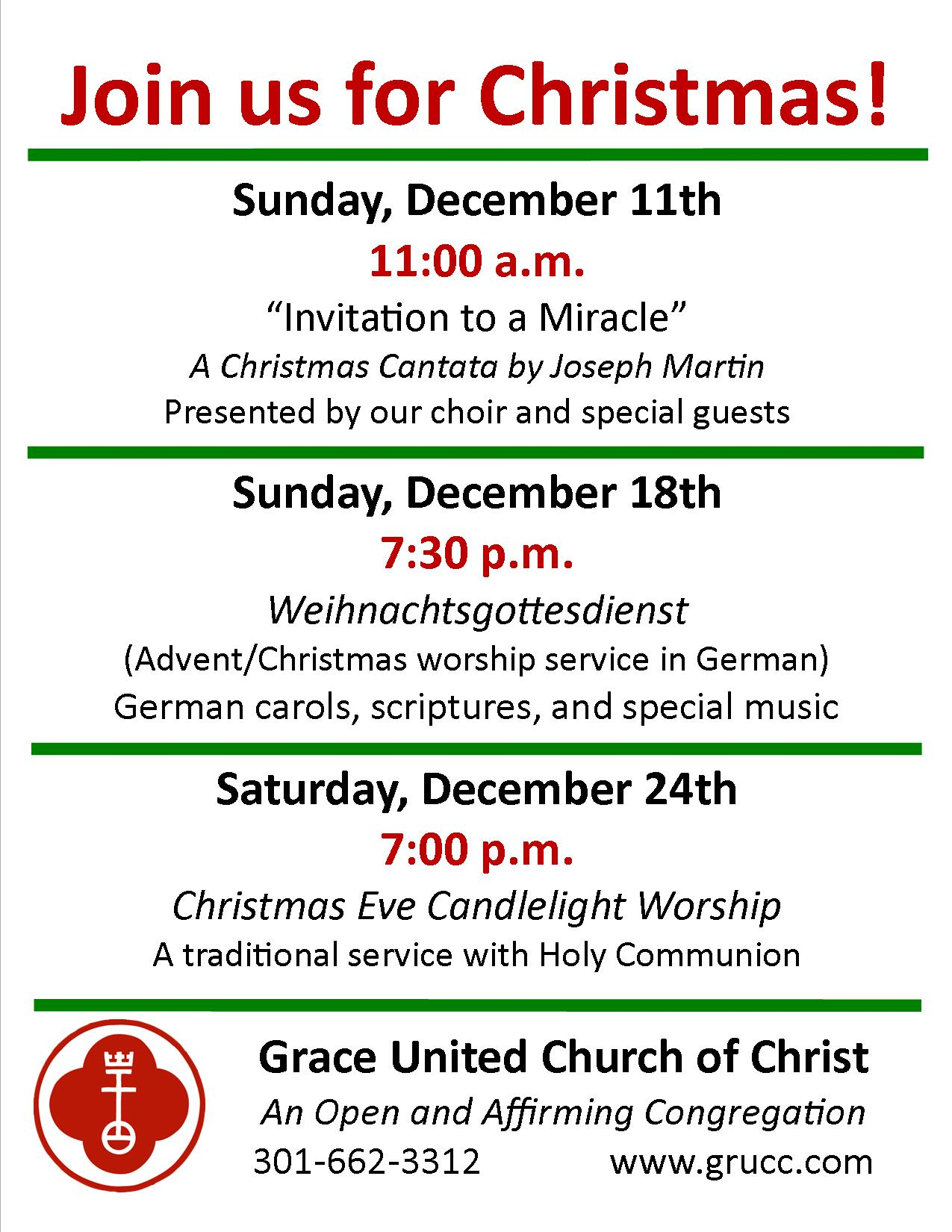 2016 Christmas and Cantata flyer