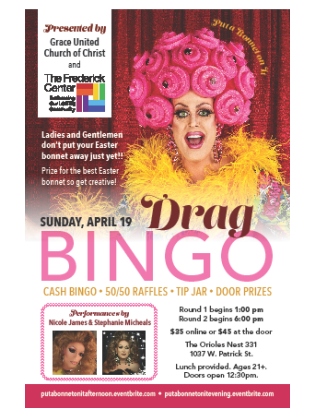 drag bingo full page flyer TFC