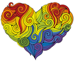 heart lgbtq graphic